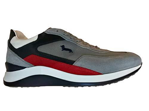 Harmont&Blaine Sneaker EFM201.061.6290 Uomo camoscio Grigio (41)