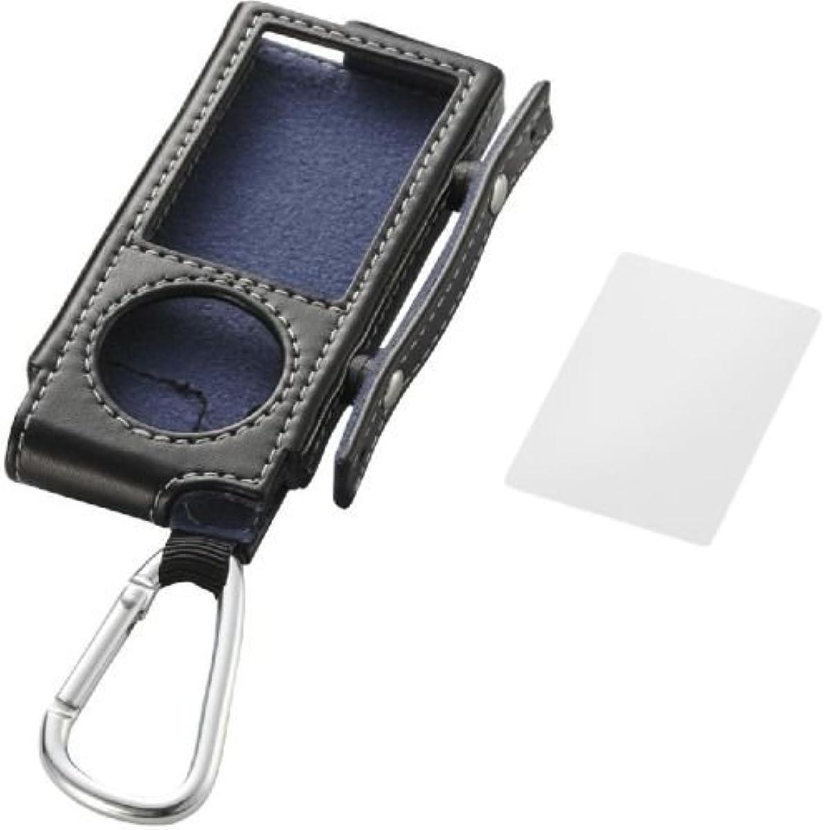 濃度海岸蓄積するELECOM 5th(2009年発売) iPod nano 巻き取りソフトレザーケース ブラック AVA-N09LRBK