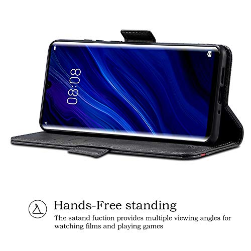Rssviss Huawei P30 Pro Hülle, Huawei P30 Pro Handyhülle [3 Kartenfächer ] Premium PU Leder Schutzhülle mit [Magnetverschluss ] für Huawei P30 Pro Ledertasche Flip Case 6.47