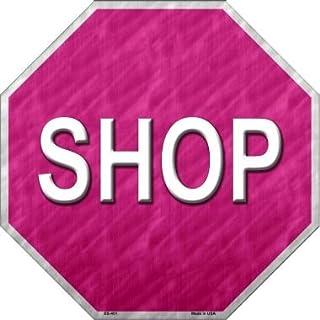 Smart Blonde Shop mit Rosa Metall Neuheit Stoppschild bs 401
