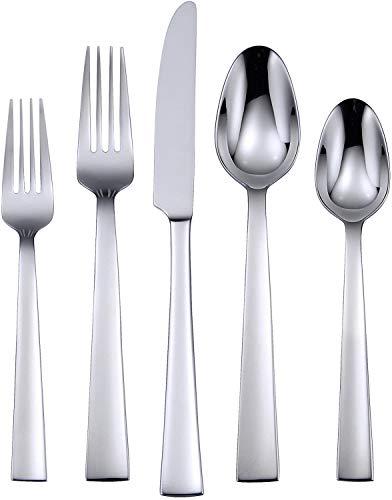 Oneida Madison Avenue 20 Piece Everyday Flatware 18/0 Stainless Steel, Service for 4, Silverware Set