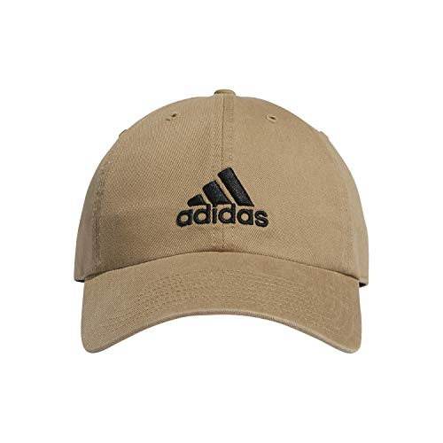 adidas Men's Ultimate Relaxed Cap, Washed Khaki/Black, ONE SIZE