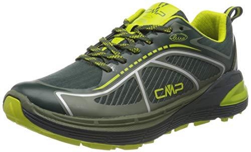 CMP – F.lli Campagnolo Nashira Maxi Shoe, Zapatillas de Trail Running Hombre, Verde Jungle Muschio 66ue, 44 EU