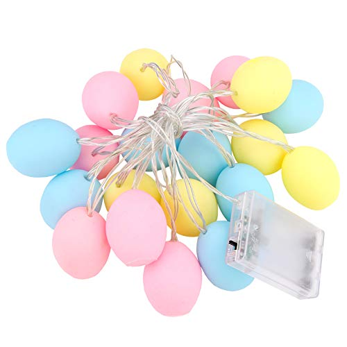 20 LED Easter Egg String Lights,3M String Lights Battery Operated Easter Lights Battery Powered Pastel Lights for Easter,Easter Egg Fun Lights for Teen Room,Party,Home Decorations