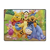JJKKFG-H Winnie Pooh Cartoon Area Rugs Bedroom Camping Soft Non-Slip Carpets Kids Living Room Nursery Home Decor Carpet 63 X 48 Inches
