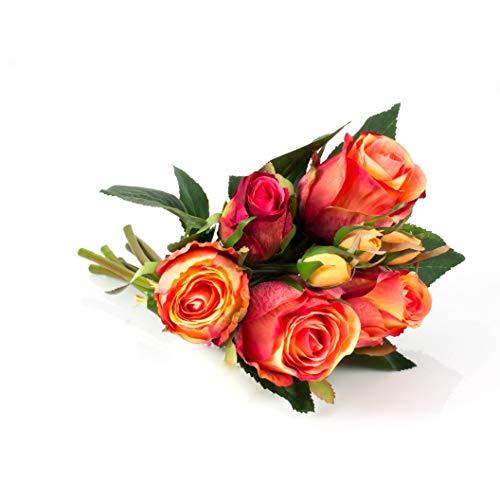 Double Cerise Rose Hot Pink Rose Fleur Pince à cheveux bibi Floral Boho 0437