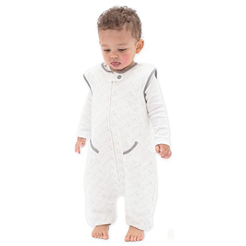 Tealbee DREAMSUIT: Toddler and Early Walker Baby Wearable Blanket - 1.2 TOG Sleeping Sack with Legs Keeps Toddlers & Babies Warm During Sleep from Summer to Winter - Softest Sleepsuit (12m-2t, Large)