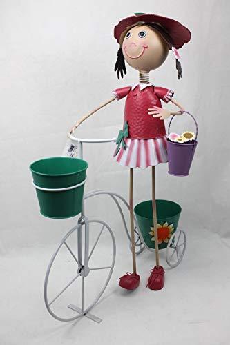 Decohouse - MACETERO Original NIÑA Bici - Soporte Flores Pl