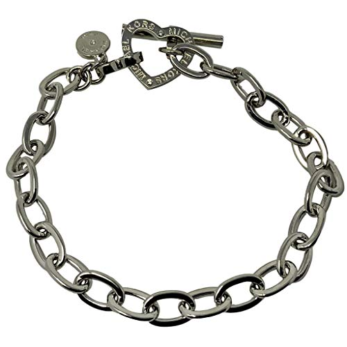 Michael Kors Silver-Tone Brass Chain Bracelet
