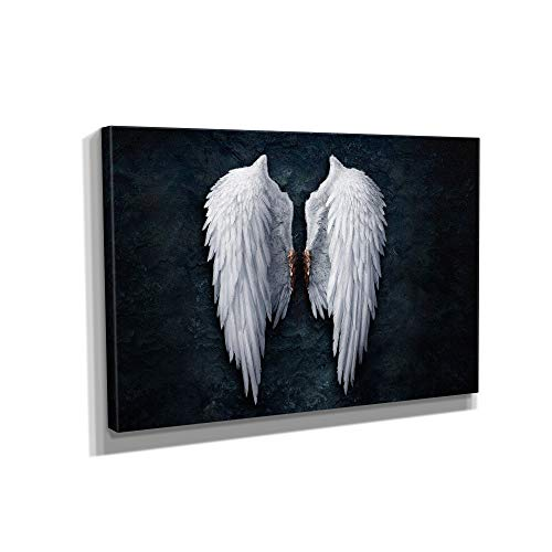 Banksy Angel Wings Graffiti Canvas Art Wall Art Home Decor (36in x 24in Gallery Wrapped)