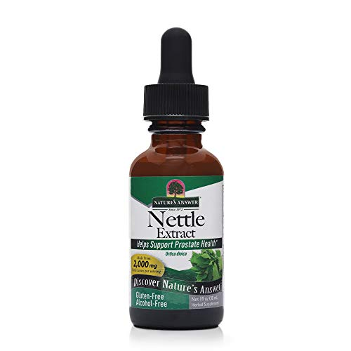 Nature's Answer Nettles Extract | Herbal Supplement | Helps Support Prostate Heath | Non-GMO, Kosher, Gluten-Free, Alcohol-Free 1oz