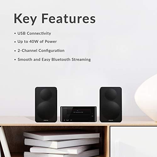 Onkyo CS-265 Home Audio System CD Hi-Fi Mini Stereo System with Bluetooth - Black