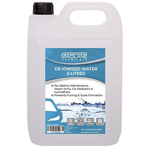 GADLANE Agua Destilada Adecuado para Batería De Coche Radiador Plancha De Vapor Desionizada 5l