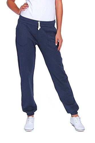 FUTURO FASHION®® Womens sport volledige lengte fleece Joggers met zakken manchetten Gym broek Joggen DK