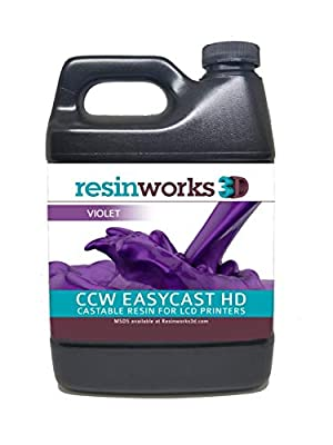 Resinworks 3D printer resin CCW EasyCast HD violet LCD - 500g bottle