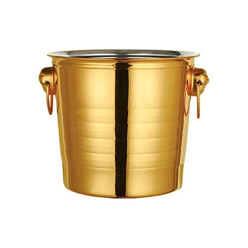 Tiger head stainless steel ice bucket KTV champagne bucket wine barrel spit wine bucket ice bucket bar beer barrel Color  Gold Size  3L
