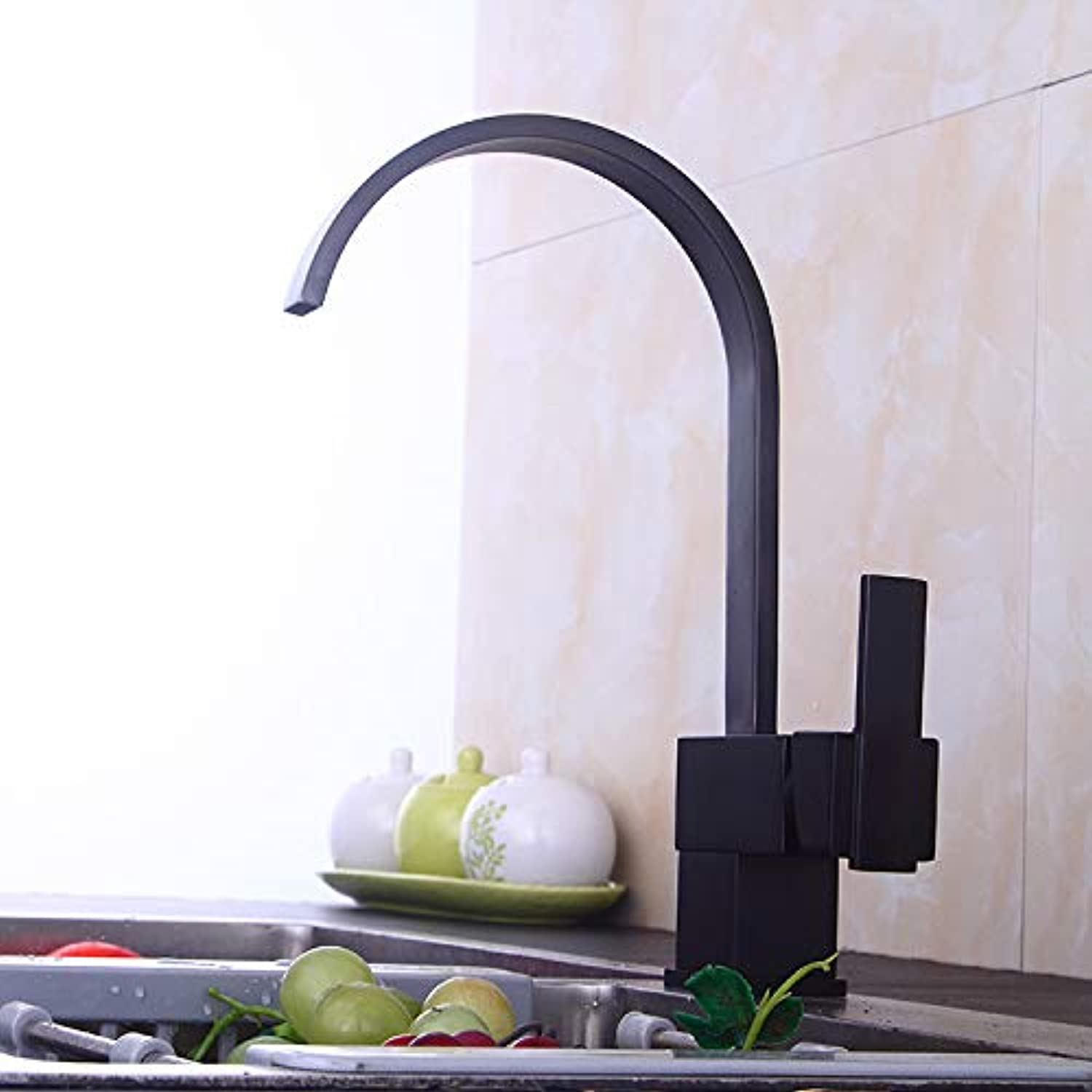 redOOY Taps Bathroom Sink Taps Shower Tapskitchen Faucet Black Ancient Kitchen Faucet Basin Faucet 360 Degree redating Faucet