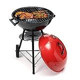 LXUA Tragbarer Grillwagen BBQ Grill Holzgrill Picknick BBQ Grill geeignet für Familie Outdoor Barbecue
