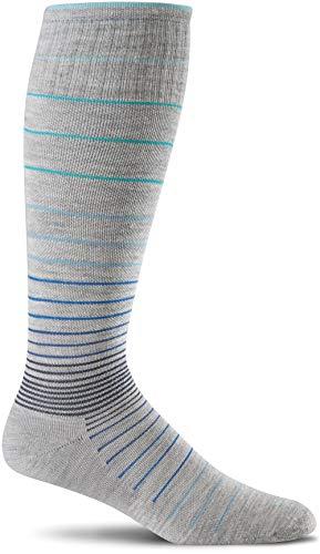 Sockwell Women's Circulator Graduated Compression Socks, Medium/Large(8-11), Grey
