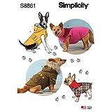 Simplicity US8861A Pattern S8861 Dog Coats, A (S-M-L)