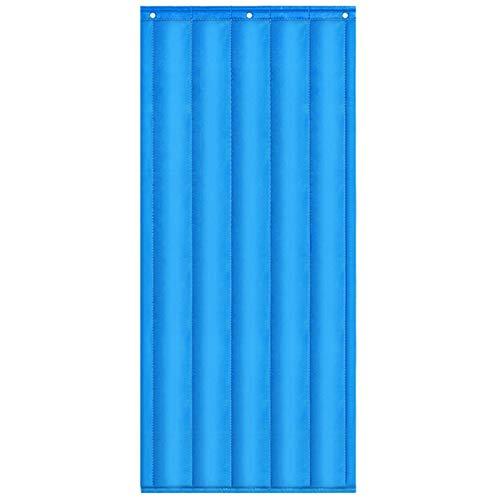 JINGMAI Isolierter Türvorhang, Winddicht Kältefest Thermovorhang, Verdicken Schalldicht Wärmeschutzvorhang Zum Küchentüren, Anpassbar (Color : Blue, Size : 1.2x2.1m)