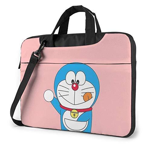 Hdadwy Bolsa para portátil de 13 Pulgadas Maletín para portátil Lindo Doraemon Funda para Bandolera Bandolera