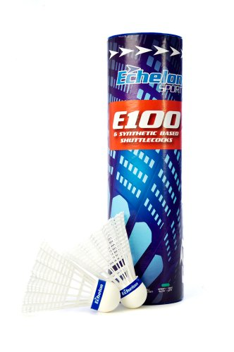 Echelon E100 White Shuttlecocks, 6 Count