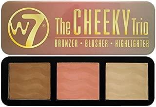 The Cheeky Trio Powder Palette W7 0.74 oz Bronze - Dream Machine, Blusher - 5th Avenue, Highlighter - Hot Stuff For Women