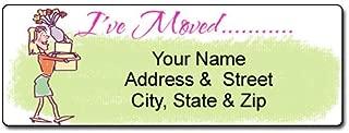 I've Moved - New Address Label - Customized Return Address Label - 90 Labels