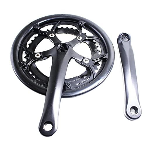 YGLONG Bielas MTB 6/7/8/9 Velocidad 52 / 42T 170 mm Road Bike Croquéfonos BCD110MM Aleación de Aluminio Accesorios de Bicicleta de aleación Cuadrada Conjunto de manivela. Manivela De Bicicleta