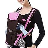 Doing1 Babytrage für Neugeborene Ergonomische Baby-Tragetasche und Kindertrage Elastisches Babyrückentragen Kleinkinder Wrap Carrier Babytragetücher kompakte Bauch und Hüfttrage, 0-3Jahre (Pink)