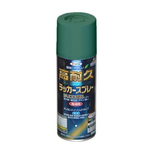 アサヒペン 高耐久ラッカースプレー 300ML オールドグリーン 【まとめ買い5缶セット】