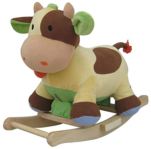 The Rocking Horse Co Nuevo Peluche Vaca Mecedora - Lindo Vaca - con Sonido Efectos 15m Vaca WJ-722