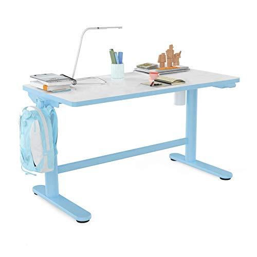 Flexispot Kids Desk Standing Desk Adjustable Height Ergonomic Sit Stand Desk 40x 24 inch Table for Boy Children's School Home Study Blue