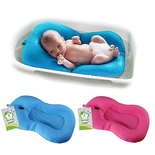 belupai Baby Bad Pad Neugeborenen Baby Faltbare Baby Badewanne Pad Stuhl Regal Neugeborenen Badewanne Sitz Infant Unterstützung Kissen Mat(Blau)