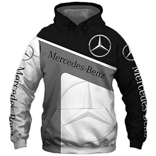 N/A-SHAOFA Hoodies,Jacken,T-Shirt Strickjacke Dünn 3D Mercedes-Benz Voll Drucken Pullover Männer&Damen Beiläufig Polyester Sweatshirt Klassisch/A/L