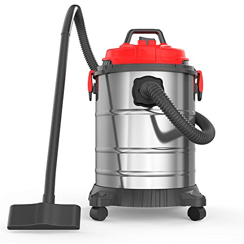 Fantastic Deal! Heavy Duty Wet-Dry Vacuums, 8 Gallon 30L 4.5 Peak HP Stainless Steel Tank Movable an...