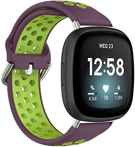 Classicase Repuesto de Correa de Reloj de Silicona Compatible con Fitbit Versa 3 / Fitbit Sense, Caucho Fácil de Abrochar para Relojes y Smartwatch (Pattern 8)