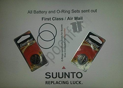 Suunto Batterie per D4 / D4i e set di anelli O ring, confezione doppia