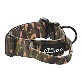 Best Dog Training Collar by The Ally Dog – Created for Military Dog Training I Instant Control & Release I Chew Proof Webbing I Chrome D-Ring I Grip Release I Cobra Connection I Premium Quality I Obedience I Walking I All Sizes I All Breeds I 3 Great Colours S – XL