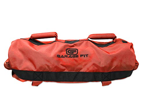 Sandbags for Fitness with Rubber Handles- Weighted Power Training- Heavy Duty Cordura Construction- 6 Rubber Gripping Handles- Adjustable Exercise Sandbags- Best Workout Raw Power, Balance & Control