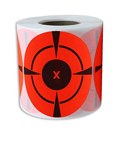 """Smart Sticker Target Stickers (Qty 250pcs 3"""") Self Adhesive Targets for Shooting 