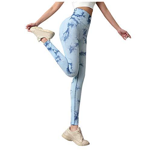 YpingLonk Leggings de Fitness Mallas Pántalones Largos Deportivos Cintura Alta Elástico Control de Barriga para Mujer Yoga Gimnasio