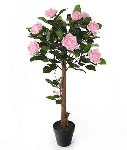 Closer-to-Nature-Artificial-3ft-1-Pink-Rose-Tree-Artificial-Silk-Plant-and-Tree-Range