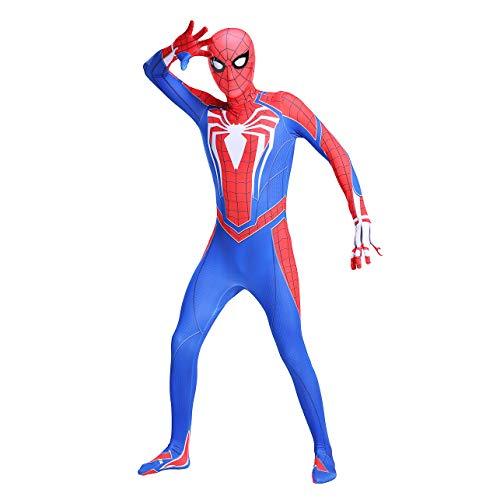 GUOHANG Nios Adulto Superhroe Spiderman Homecoming Halloween Carnaval Spider-Man Pelcula Disfraz Props Cosplay Disfraz, Spandex/Lycra,Spiderman 4,140CM~150CM