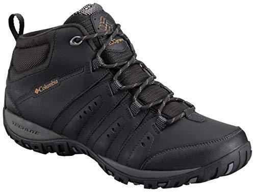 Columbia Peakfreak Nomad Chukka WP Omni-Heat, Botas de Senderismo para Hombre, Negro (Black, Golden Rod 010), 42 EU