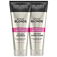 John Frieda Sheer Blonde Flawless Recovery Deep Conditioner Treatment for Dry and Damaged Blonde Hai...