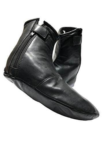 Herren Damen Unisex Echtleder-Socken Khuffain für Hajj Umrah Gr. 39, Schwarz