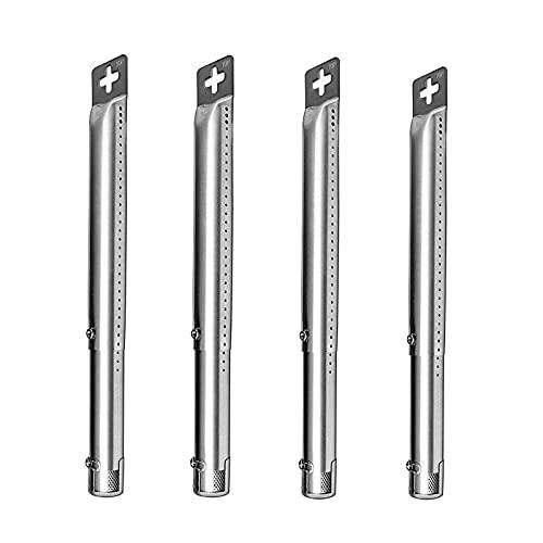 WELL GRILL 4er Pack Einstellbares Grillbrenner Brennerrohre Rohr Edelstahl Gasgrill Ersatzteile für Master Schmiede, Perfekte Flamme, Uniflame, und andere Modell Grills Länge von 30,8 cm bis 44,9 cm
