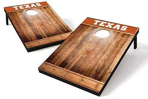 Wild Sports NCAA College Texas Longhorns 2'x3' Cornhole Set - Brown Wood Design, Team Color (TTW1BC-TEX)
